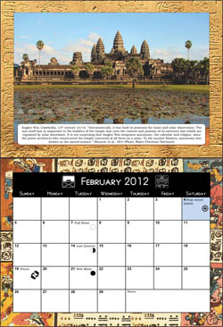 Click to enlarge month of February in the 2012 Astrotheology Calendar