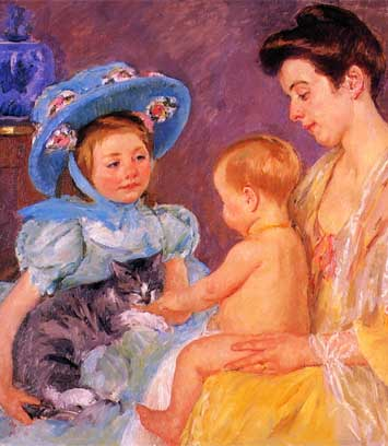 Mary Cassatt's 'Children Playing with a Cat'
